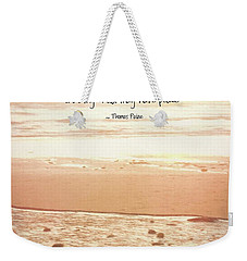 Weekender Tote Bag featuring the photograph Peace by Peggy Hughes