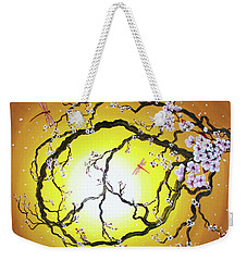 Peace Tree In Golden Glow  Weekender Tote Bag by Laura Iverson