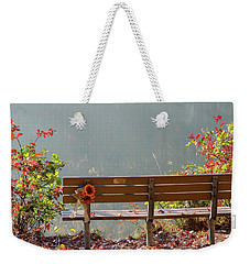 Weekender Tote Bag featuring the photograph Peaceful Bench by George Randy Bass