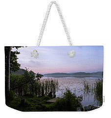 Peaceful Dawn At The Lake Enajarvi Weekender Tote Bag