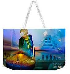 Weekender Tote Bag featuring the digital art Peaceful Discovery by Shadowlea Is