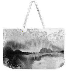 Peaceful Evening - Abstract Ink Rural Landscape Art Weekender Tote Bag