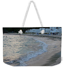 Weekender Tote Bag featuring the photograph Peaceful Evening On Dawn Beach by Margaret Bobb