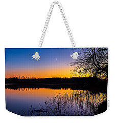 Weekender Tote Bag featuring the photograph Peaceful Evening by Rose-Maries Pictures