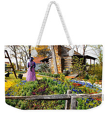 Weekender Tote Bag featuring the photograph Peaceful Garden Walk by Donna Dixon