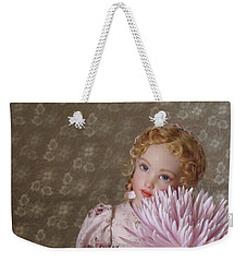 Weekender Tote Bag featuring the photograph Peaceful Kish Doll by Nancy Lee Moran