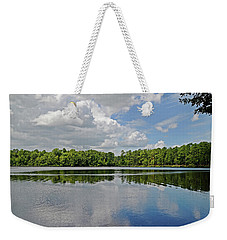Weekender Tote Bag featuring the photograph Peaceful by Linda Brown