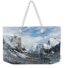 Weekender Tote Bag featuring the photograph Peaceful Moments - Yosemite Valley by Sandra Bronstein
