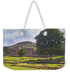 Peaceful Retreat - Melrose Abbey  Weekender Tote Bag