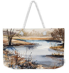 Peaceful Stream Weekender Tote Bag by Judith Levins