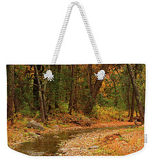Peaceful Stream Weekender Tote Bag by Roena King