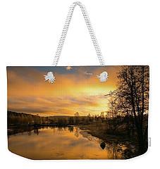 Peaceful Thoughts Weekender Tote Bag by Rose-Marie Karlsen