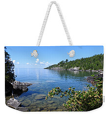 Peaceful Tranquilty_ Surrounded By Danger Weekender Tote Bag