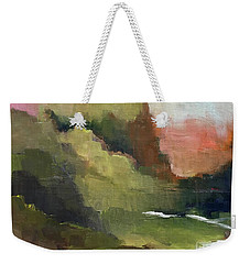 Weekender Tote Bag featuring the painting Peaceful Valley by Michelle Abrams
