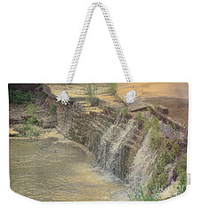 Weekender Tote Bag featuring the photograph Peaceful Waterfalls by Luther Fine Art