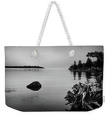 Peaceful Waters At Crystal Point, Lake Huron Mi Weekender Tote Bag