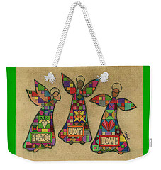 Peace,joy,love Weekender Tote Bag