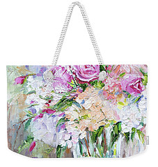 Peach And Pink Bouquet Weekender Tote Bag