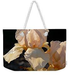 Peach Bearded Iris Weekender Tote Bag
