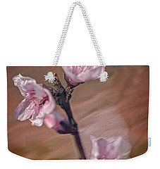 Weekender Tote Bag featuring the photograph Peach Blossom by David Waldrop
