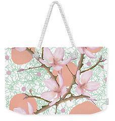 Peach Blossom Pattern Weekender Tote Bag