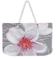 Peach Blossoms Weekender Tote Bag by Jane Schnetlage