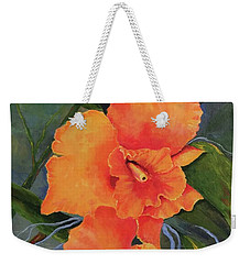 Peach  Blush Orchid Weekender Tote Bag
