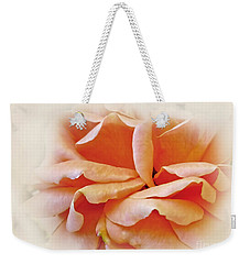 Peach Delight Weekender Tote Bag by Kaye Menner