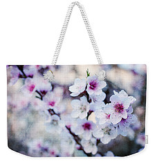 Peach Flowers Weekender Tote Bag