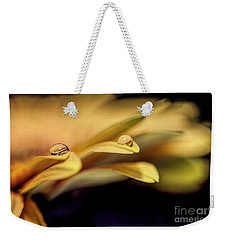 Peach Gerber Closeup Weekender Tote Bag by Shirley Mangini