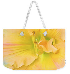 Peach Lily Weekender Tote Bag