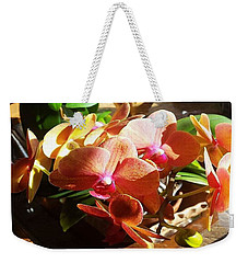 Peach Orchid Blossoms Weekender Tote Bag