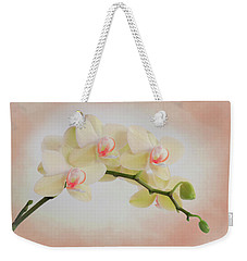 Peach Orchid Spray Weekender Tote Bag