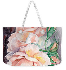 Peach Perfect - Painting Weekender Tote Bag by Veronica Rickard