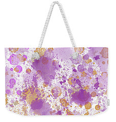 Peach Pink Watercolor Abstract Weekender Tote Bag by P S