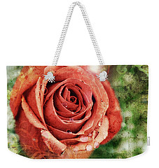 Peach Rose Weekender Tote Bag by Sennie Pierson