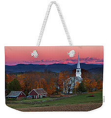 Peacham Village Fall Evening Weekender Tote Bag