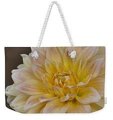 Peaches And Cream Dahlia Weekender Tote Bag