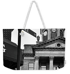 Peachtree And Central In Black And White Weekender Tote Bag