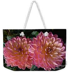 Peachy Dahlias Weekender Tote Bag