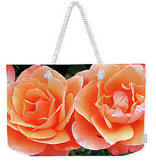 Peachy Weekender Tote Bag by Ellen Tully