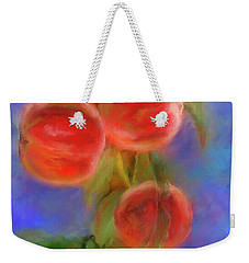 Peachy Keen Weekender Tote Bag by Colleen Taylor