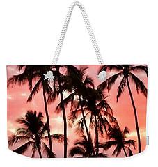 Peachy Palms Weekender Tote Bag