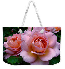 Peachy Pink Weekender Tote Bag by Rona Black