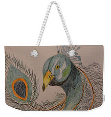 Peacock #1 - Drawing Weekender Tote Bag