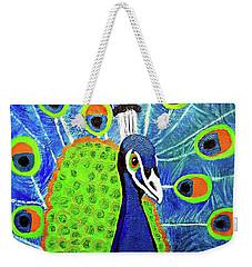 Peacock #3 Weekender Tote Bag