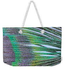 Peacock Abstract Weekender Tote Bag