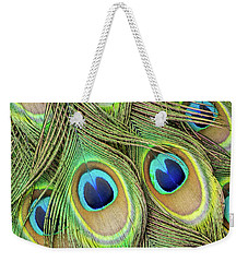 Living Peacock Abstract Weekender Tote Bag
