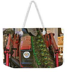 Peacock And His Ride Weekender Tote Bag