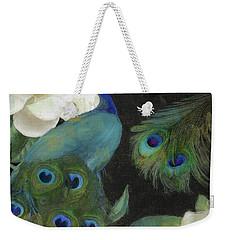 Peacock And Magnolia II Weekender Tote Bag